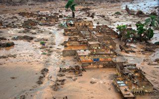 组图:巴西矿区水坝溃决  环境灾害严重