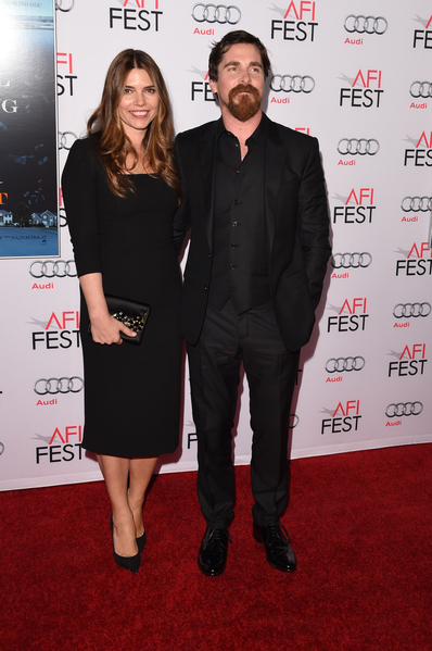 克里斯蒂安‧貝爾與夫人西碧出席《大空頭》首映。(Jason Merritt/Getty Images)