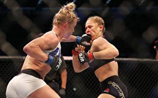 UFC爆大冷门 霍尔姆击败女王罗西夺冠
