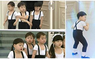 韓三胞胎跳芭蕾舞 挺著小肚超可愛