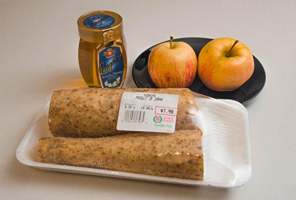 從大華購買的三種食材。(譚安/大紀元)