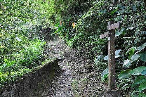 前行約三分鐘,土石路終點,為九芎根山登山口。(圖片提供:tony)