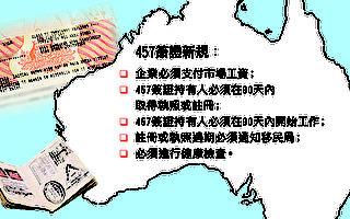澳洲457簽證規定更新12月開始生效