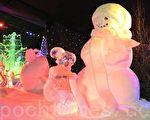 比利时布鲁日第16届冰雕艺术节上的雪人(萧依然/大纪元)
