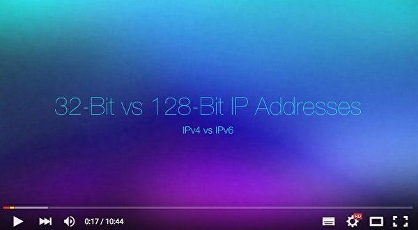 新的IPv6网路位址编码系统拥有更长的地址,它将提供340个后接36个零位数(undecillion)的IP地址。(视频截图)