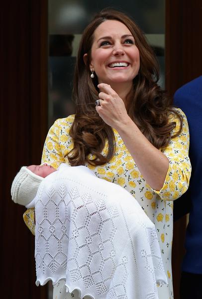 2015年5月2日,凱特王妃成功誕下女兒。(Chris Jackson/Getty Images)