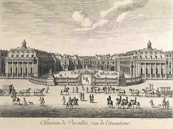 Israel_Silvestre_Versailles_ 1682年的凡爾賽宮。(維基百科公共領域)