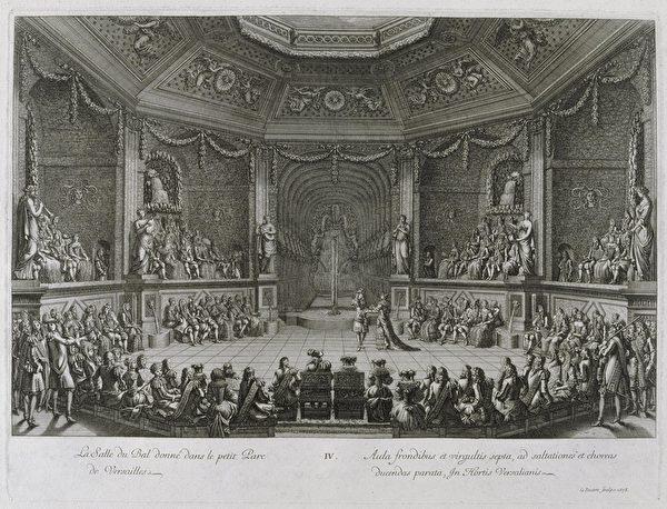 凡爾賽宮銅版畫,這些版畫是路易十四贈送各國君主的禮物。(維基百科公共領域)