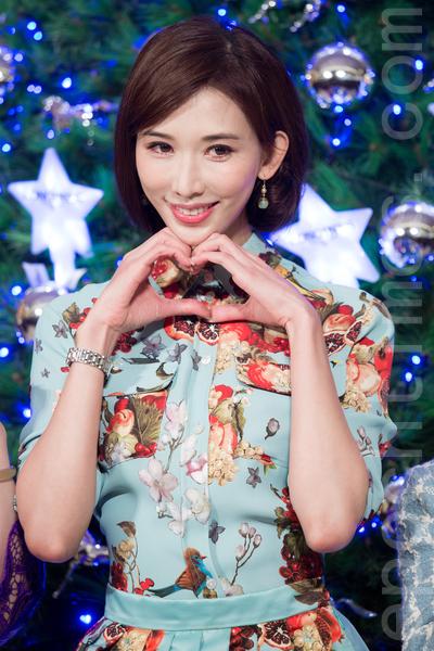名模林志玲12月16日在新北市出席聖誕樹點燈記者會,新的一年仍然期待愛情到來。(陳柏州/大紀元)
