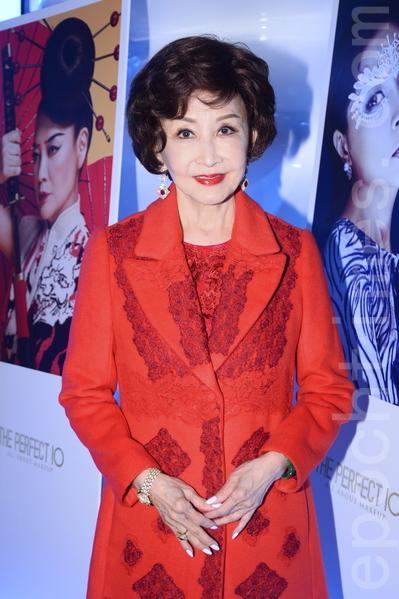 鄭明明21日出席星級化妝師Stephen入行十周年紀念活動。(宋祥龍/大紀元)