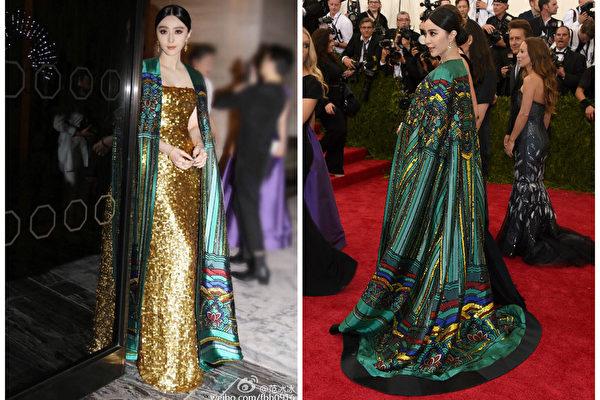 范冰冰「紫禁城」禮服入選年度十佳紅毯造型