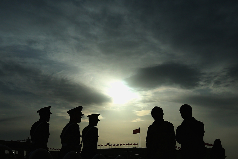 中共政治局近期不少「雲會議」洩七常委分散保命。(Feng Li/Getty Images)