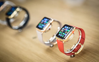 苹果智能手表在2016年第三季度的出货量只有110万部,相比之下,苹果去年同期的智能手表出货量为390万部。(Pablo Cuadra/Getty Images for Apple)
