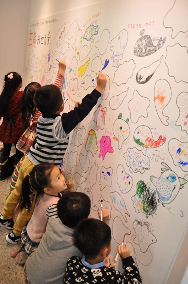 绘本创作表达想法描绘想像。(新竹市文化局提供)