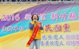 竹縣立委候選人邱靖雅發表三托等勞工政策