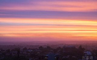 组图:看澳洲 紫色夕阳