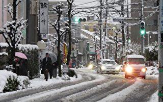 暴风雪袭日本东京169人受伤 陆空交通大乱