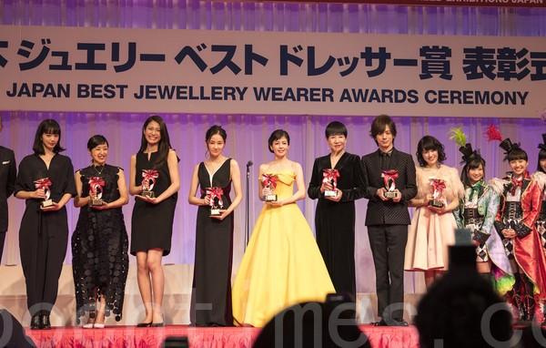 日本「最佳珠寶佩戴獎」名人名單出爐