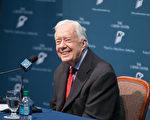 美国第39任总统卡特(Jimmy Carter)周一(15日)第二度荣获葛莱美音乐奖(Grammy Award)。 (Jessica McGowan/Getty Images)