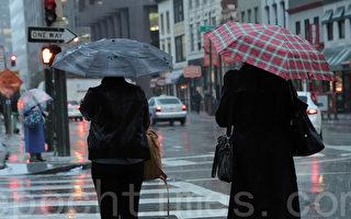 2015年10月開始的冬季,舊金山陰雨綿綿,雨量超過歷年平均,但2月以來卻很少降雨。(劉義/大紀元)