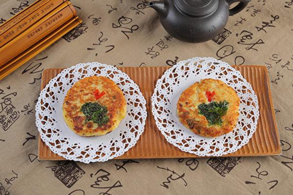 绿豆饼。(张学慧/大纪元)