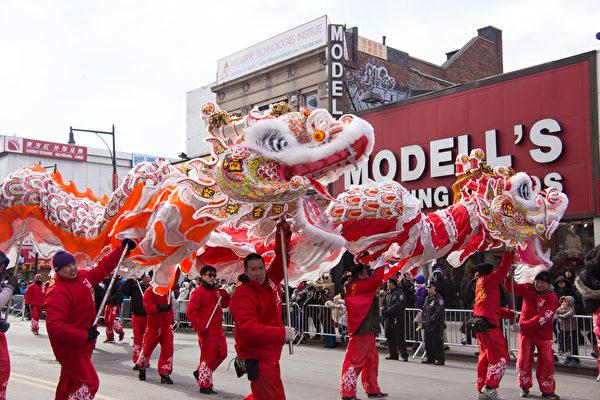 2016年2月13日,纽约拉盛举行中国新年大游行。(戴兵/大纪元)