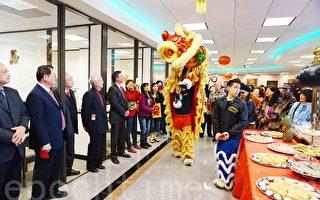 组图:休斯顿中国城各大银行舞龙舞狮喜迎金猴年
