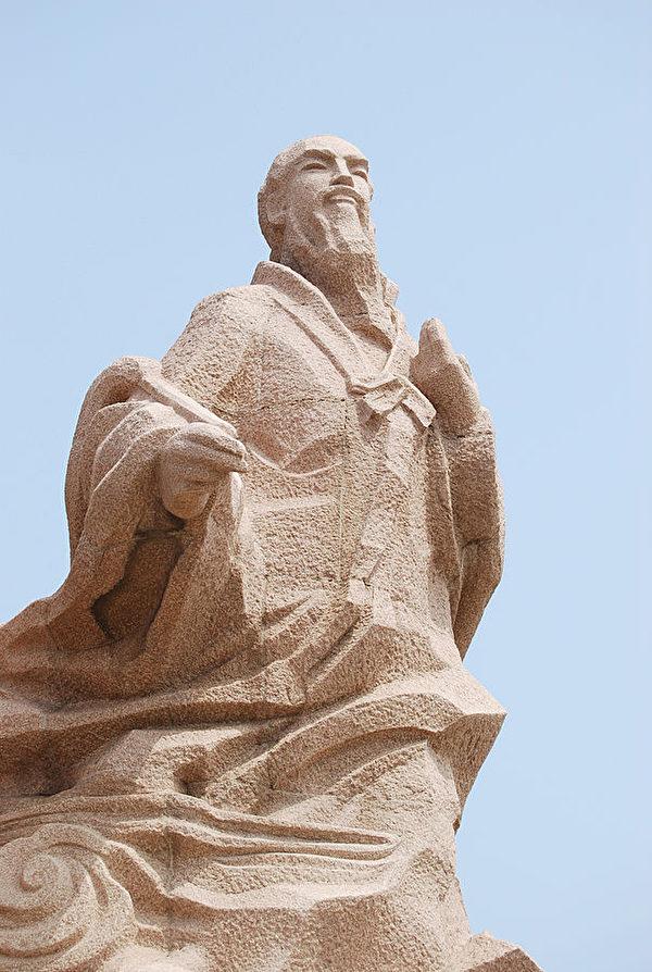 山東徐福下海處的雕像(公共領域)