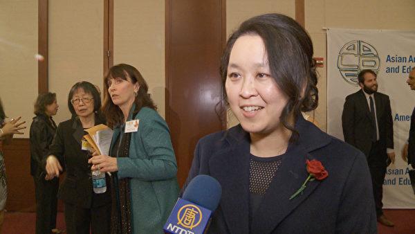 硕腾执行副总裁兼首席法律顾问陈怡君(Heidi Chen)。(李凯文/新唐人)