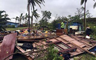 组图:史上最强风暴重创斐济