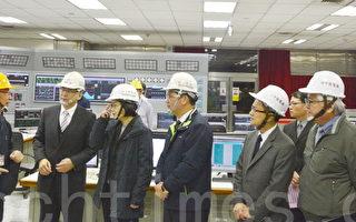 蔡英文访台中电厂  将一起面对解决空污