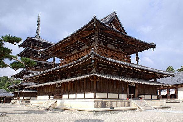 法隆寺金堂(西院伽蓝)(公共领域)