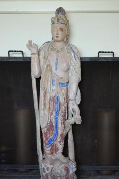 赛珍珠在住家内长期供奉观音像。(赛珍珠国际组织提供)