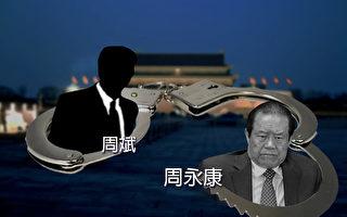 中共前政法委書記周永康已於2015年6月被判處無期徒刑,但當局對其子周濱的調查仍在進行。(大紀元合成圖片)