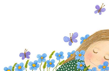 Etre fleur bleue. 是朵藍色的花 –多愁善感,天真,樸實。(fotolia)
