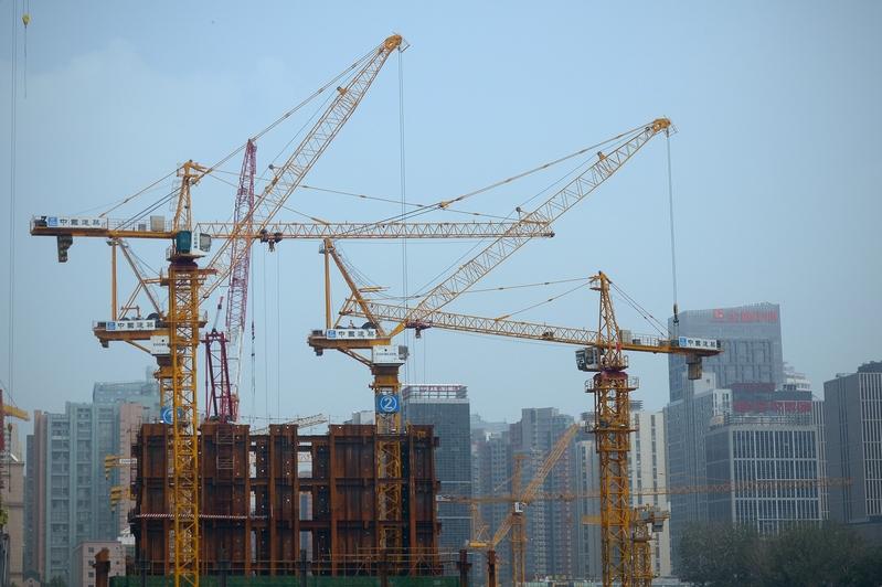 5月北京房價環比下跌4.09%。圖為北京一處建築工地。(WANG ZHAO/AFP/Getty Images)