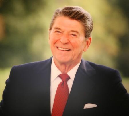 美国前总统罗纳德·里根(Ronald Reagan),亦译里根总统。(摄影:Juliet Zhu/大纪元,来源:Ronald Reagan Presidential Library)