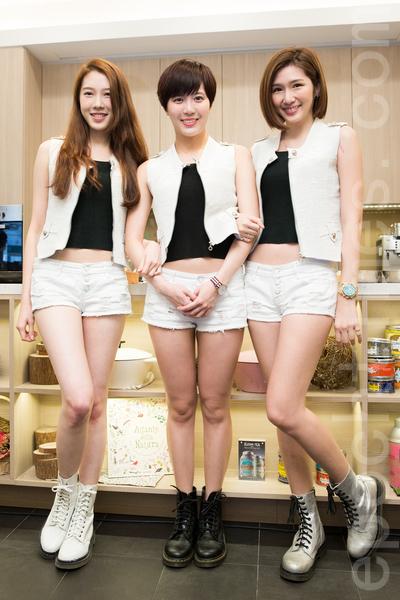 女團喬紫喬3月14日在台北發行首張EP《改潮換代》。(陳柏州/大紀元)