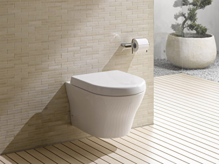 MH wall-hung HET系列的馬桶,採壁掛式設計。(TOTO提供)