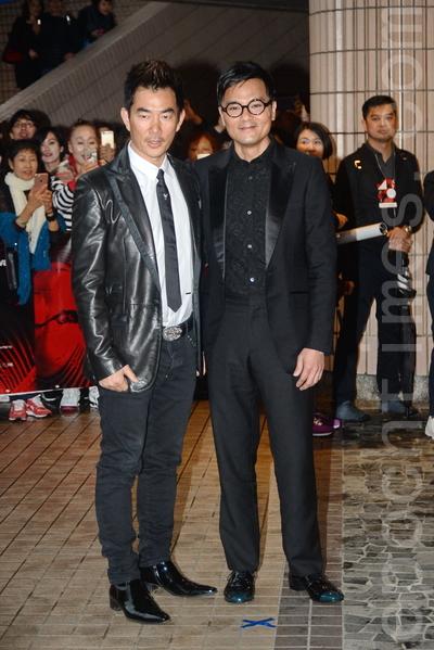 《樹大招風》演員任賢齊、林家棟雙雙出席首映禮。(宋祥龍/大紀元)