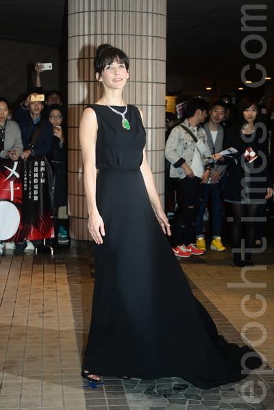 法國女星蘇菲‧瑪索出席香港亞洲電影節開幕。(宋祥龍/大紀元)