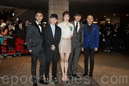香港電影節開幕,電影《火鍋英雄》舉行首映禮,陳坤、白百何等演員現身。(宋祥龍/大紀元)