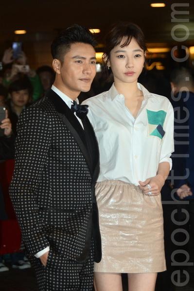香港電影節開幕,《火鍋英雄》演員陳坤、白百何現身。(宋祥龍/大紀元)