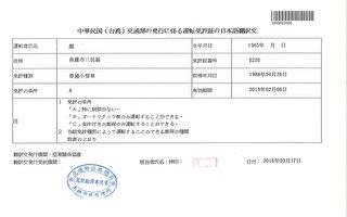 民眾赴日自駕 需備台灣駕照「日文譯本」