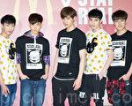 男团SpeXial 3月22日在台北出席速食店活动。(陈柏州/大纪元)