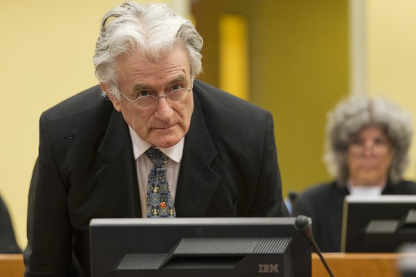 前波黑塞族领导人拉多万·卡拉季奇(Radovan Karadzic)3月24日被海牙国际刑事法庭判处40年监禁。( MICHAEL KOOREN/AFP/Getty Images)