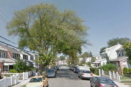 """从谷歌街景上可以看到,被吹倒的大树确实""""枝叶茂盛""""。(谷歌街景)"""