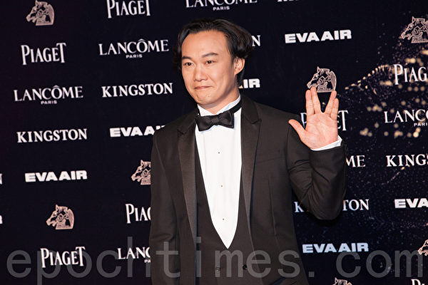 陳奕迅出席2015年台灣金馬獎頒獎禮資料照。 (葉覺/大紀元)