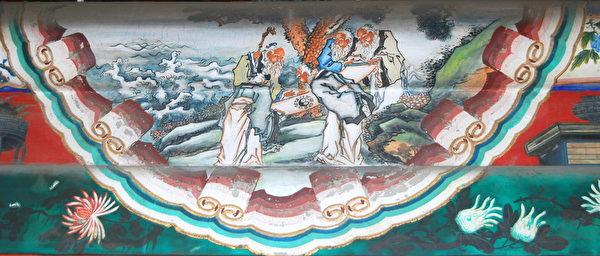 北京頤和園長廊彩繪:五老觀圖。(公有領域)