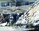 日本熊本縣16日凌晨再次發生7.3級強震,造成32人死亡、過千人受傷,大量建築物倒塌。(大紀元資料圖片)